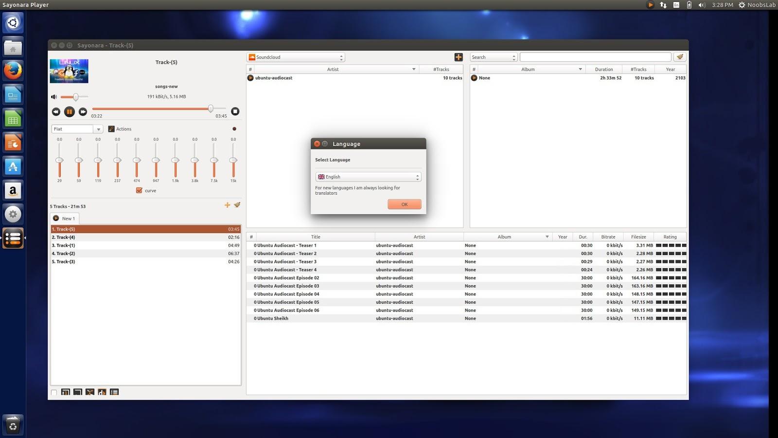 Ubuntu Spectrum Analyzer