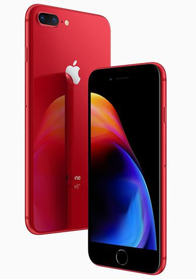 آبل تعلن عن نسخة جديدة من هواتف آيفون 8 و آيفون 8 بلس باللون الأحمر