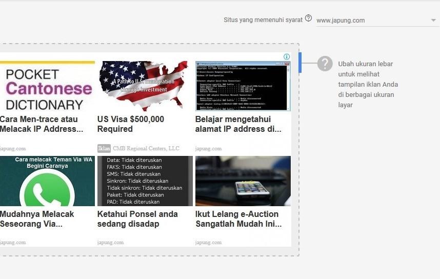 Konten Sesuai Matched Content Adsense