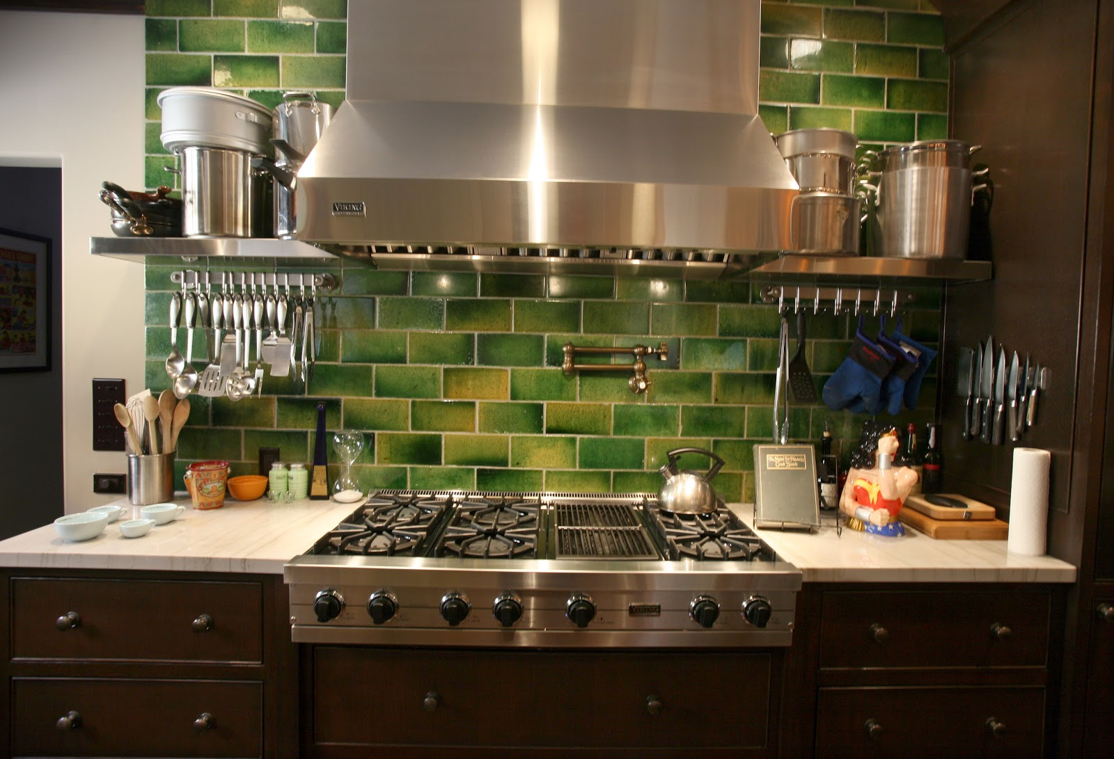 Crafty-Dee: Faux Glass Tile Backsplash