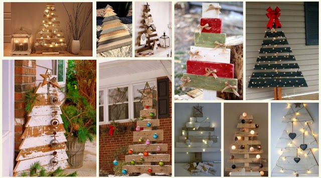Χριστουγεννιάτικα Δέντρα από Παλέτες