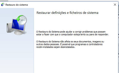 restaurar windows