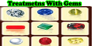 Treatments with gems stones