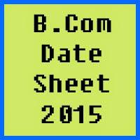 IUB BCom Date Sheet 2017 Part 1 and Part 2