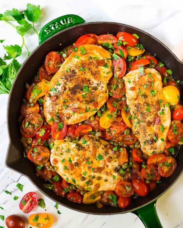 Skillet Tomato Chicken Recipe