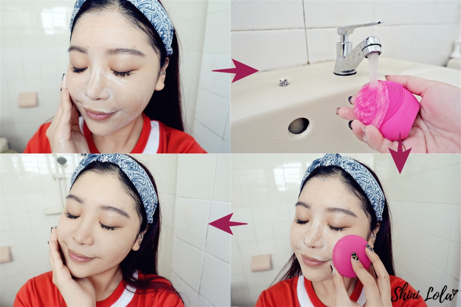 how to use FOREO facial brush, LUNA play plus