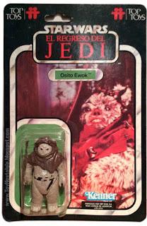 """El """"Osito Ewok"""" TOP TOYS card - El Regreso del Jedi - Argentina"""