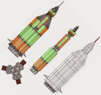 Il vettore UR-700, alternativa al programma lunare N1-L3 di Korolev.