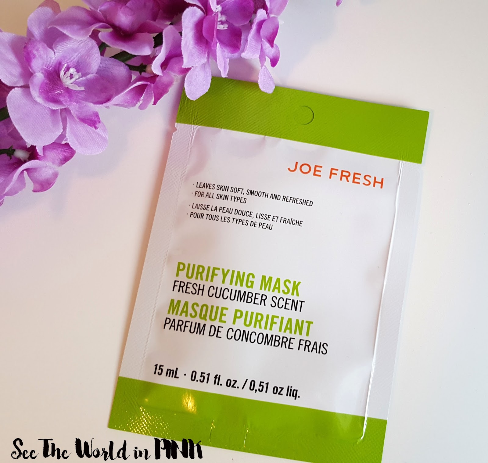Joe Fresh Purifying Mask Fresh Cucumber Scent Review