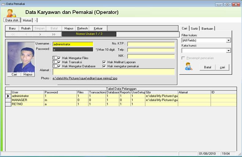 Contoh Laporan Gudang Excel Laporan 7