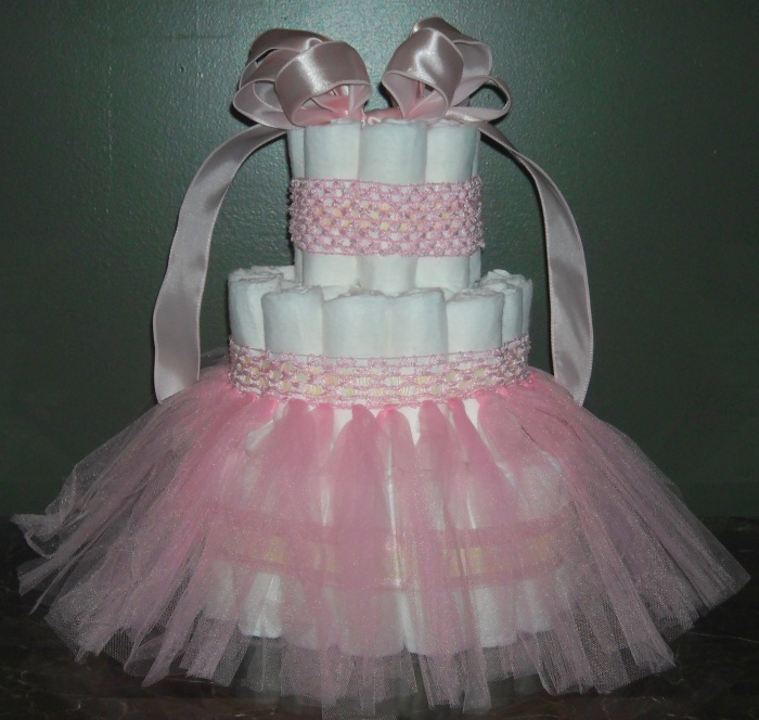 Diaper Cakes Atlanta Tutu Girl Diaper Cake