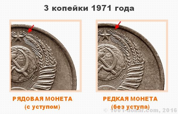 3 копейки 1971 стоимость интернет магазин российских монет