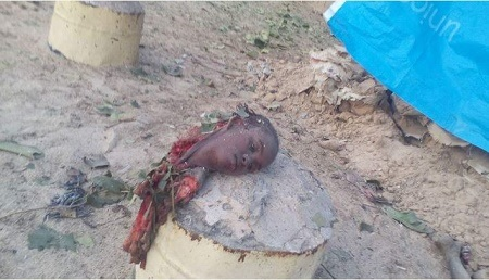 See Photos of Female Suicide Bomber Captured in Maiduguri This Morning
