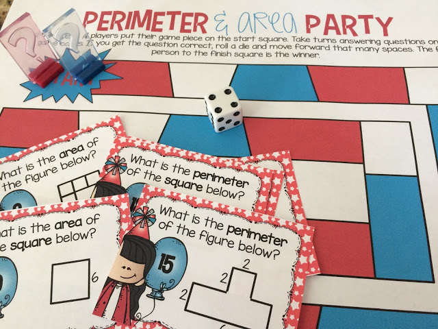 This area and perimeter game is a fun way to practice a tricky skill!