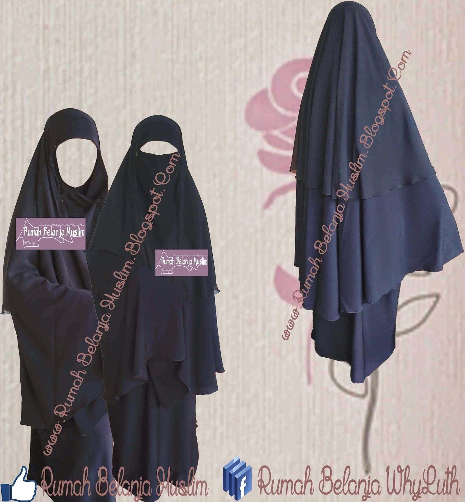 Jilbab Cadar Safar Rits Hitam