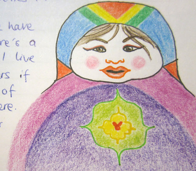 matryoshka doll drawing