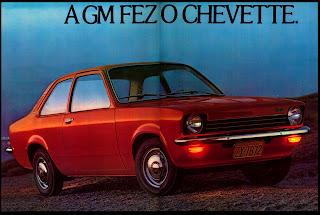 propaganda Chevette - 1973