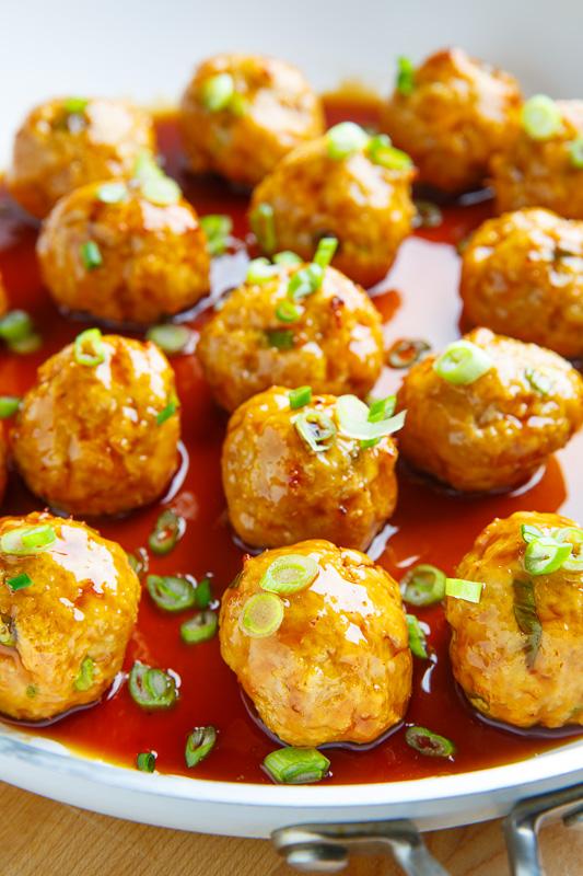 Sriracha Teriyaki Chicken Meatballs