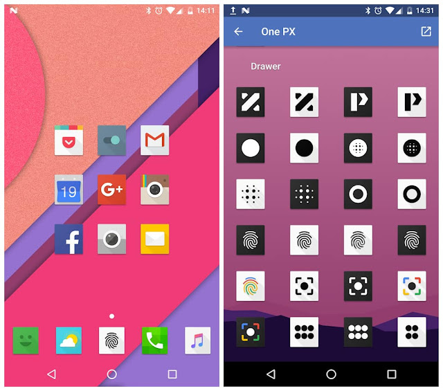 OnePX Icon Pack 8.1 Apk Free Download