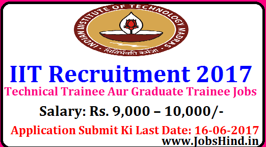 IIT Recruitment 2017
