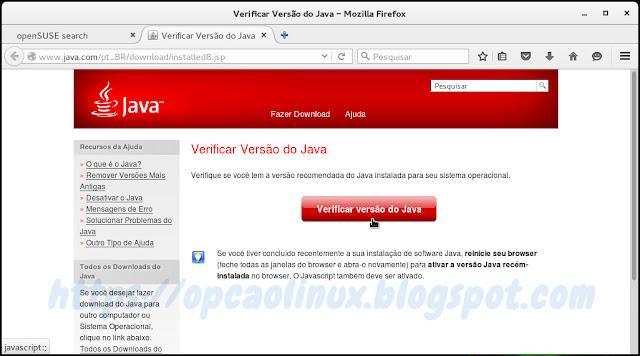 Verificar versão do Java