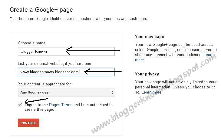 How to Create Google+ (Plus) Fan Page for Website/Blog