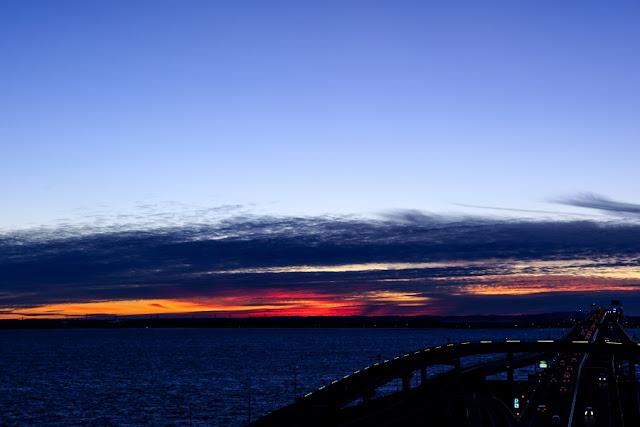 朝焼け~海ほたる