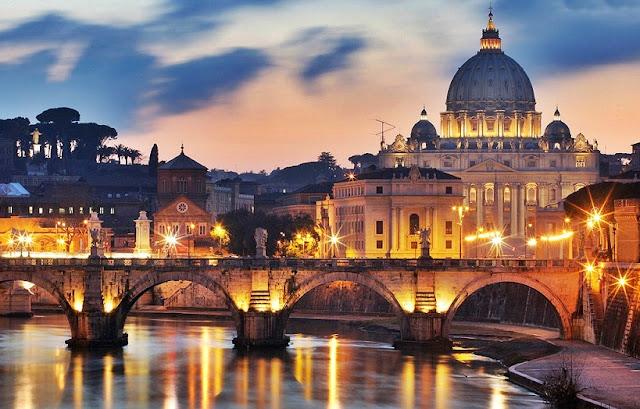 Cidade turística Roma na Itália