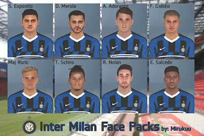 PES 2017 Facepack Inter Milan Youngsters by Mirukuu