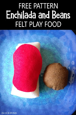 Easy Circular Felt Food with Patterns // In Our Pond // free printable // pretend play // kids play // play kitchen // crafting // diy // sewing // Mexican food // restaurant pretend play