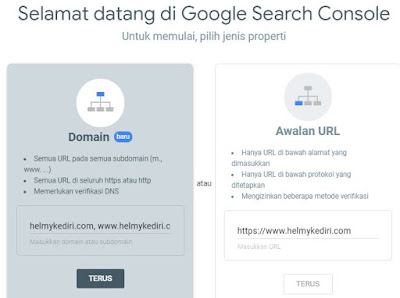 mendaftar google search console