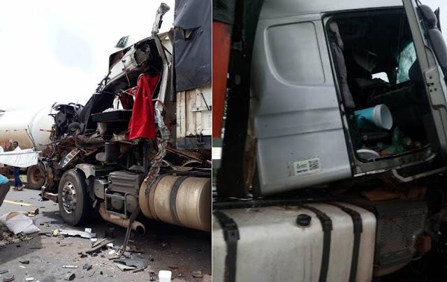 Motorista morre após colisão brutal entre carretas na BR 364