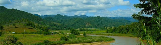 Outdoor scene at Mae Hong Son
