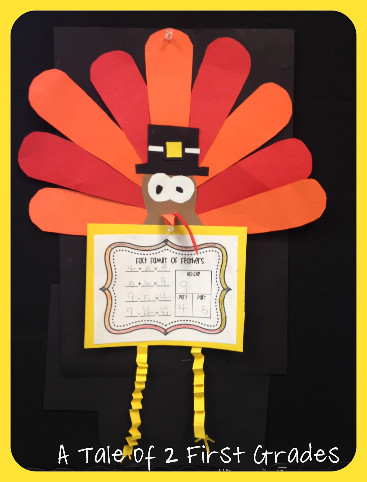A Tale Of 2 First Grades Turkey Fact Family Craftivity