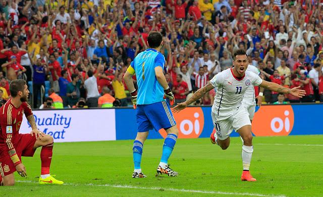 España y Chile en Copa del Mundo Brasil 2014, 18 de junio