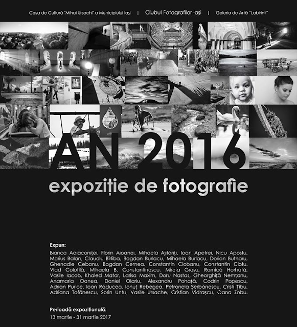 Afișul expoziției AN 2016 - Clubul Fotografilor Iași