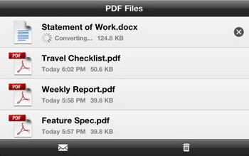 Adobe CreatePDF converter iPhone app officially released