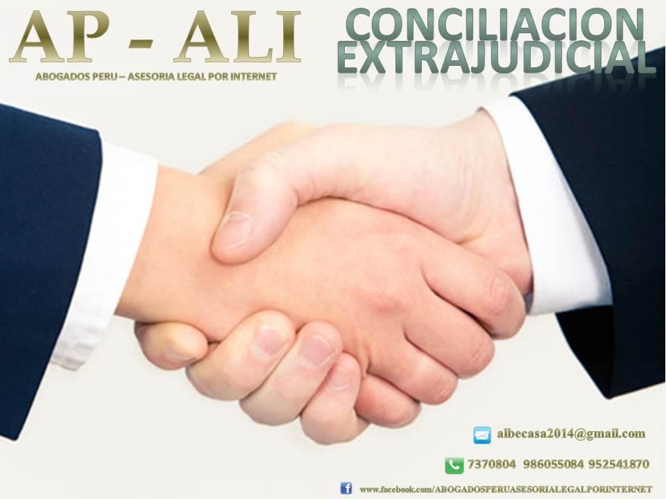 Abogados peru asesoria legal por internet conciliaci n for Via extrajudicial
