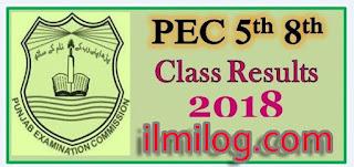 PEC 5th Class Result 2018