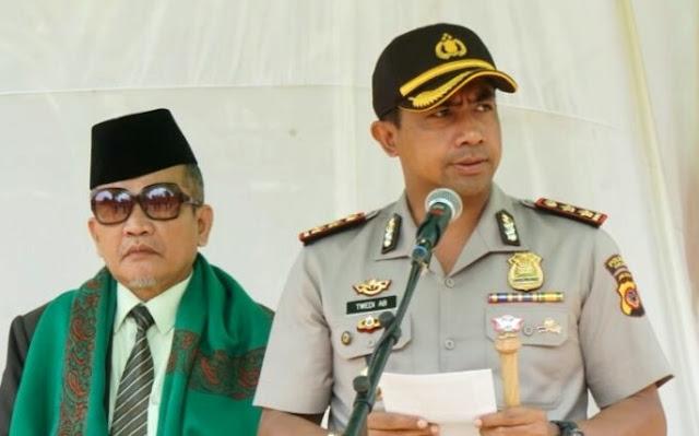 Kapolres Purwakarta Pastikan Gudang Logistik KPU Aman