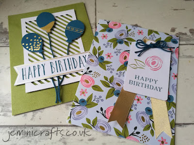 The Stampin' Up Perennial Birthday card kit features stunning base cards