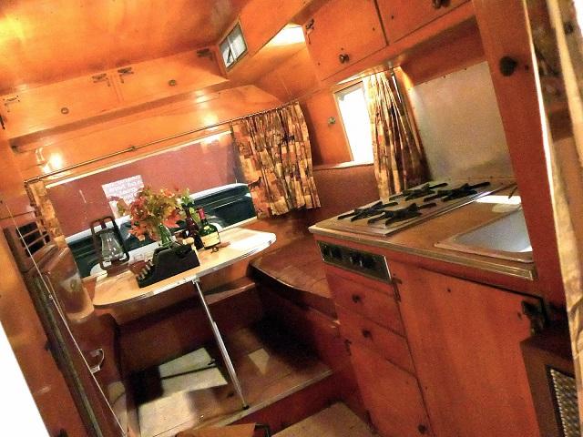 Interior de l'autocaravana