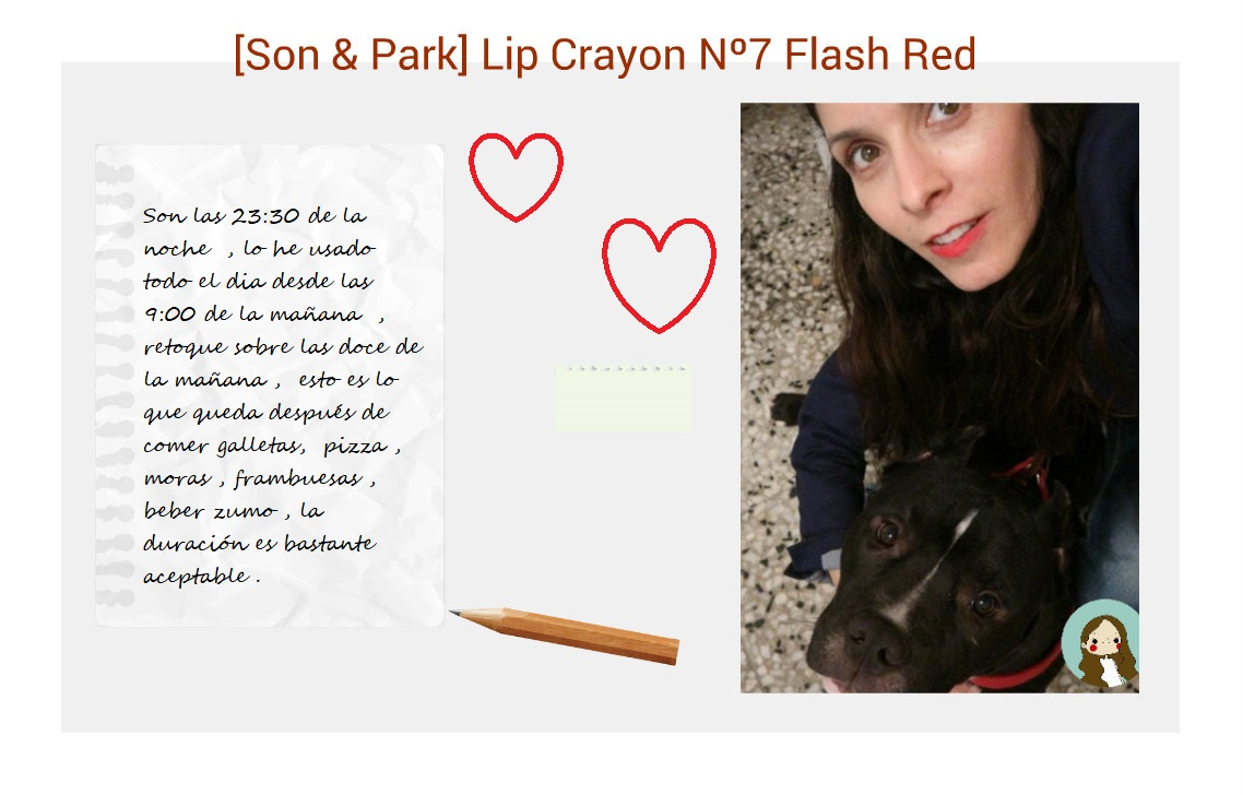 [Son & Park] Lip Crayon Nº7 Flash Red