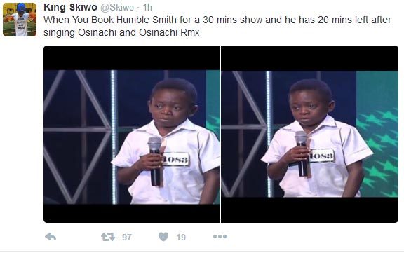 Twitter user trolls Osinachi crooner Humblesmith
