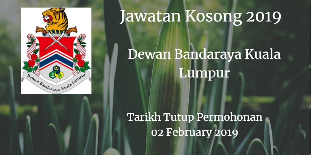 Jawatan Kosong DBKL 02 February 2019