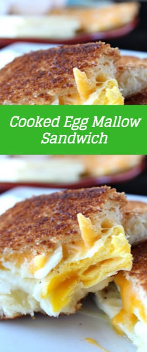 Cooked Egg Mallow Sandwich