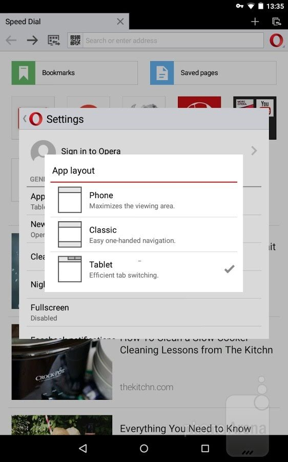 The new features boost video opera mini android option to