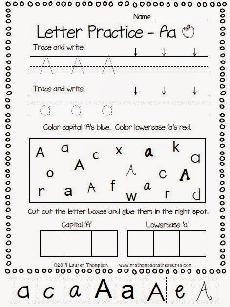 http://www.teacherspayteachers.com/Product/Alphabet-Letters-Practice-Pages-FREE-Sample-1405409