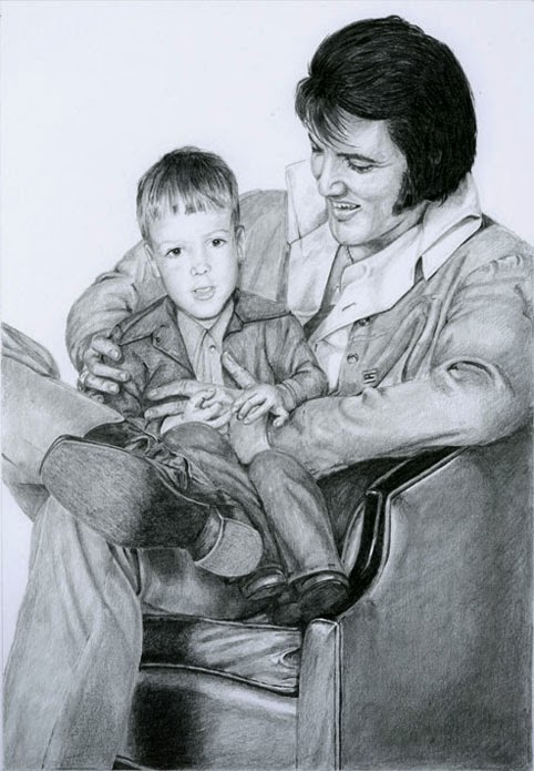 Elvis & Larry, drawing 2014