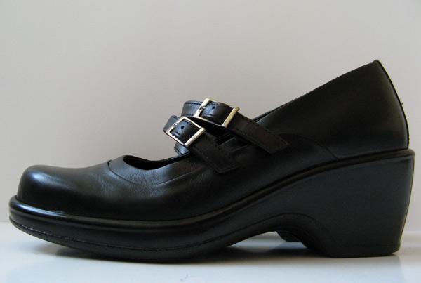 Dansko Black Leather Work Clogs Dress Shoes Womens Size 8